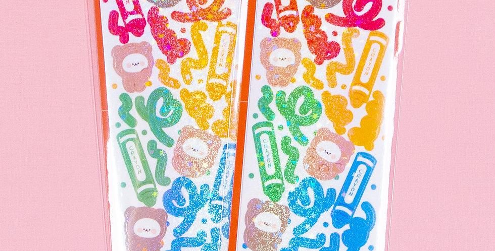 COTTON DANCHOO Crayon Sticker