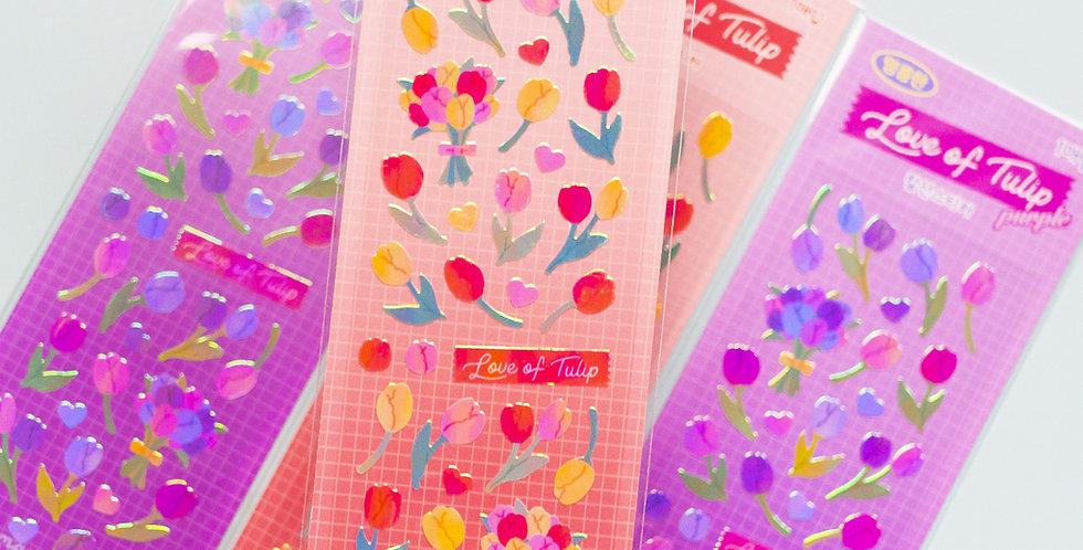 MANTA BOX Pearly Love of Tulip Sticker