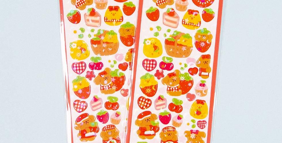 OKIKI Strawberry & Cherry Sticker