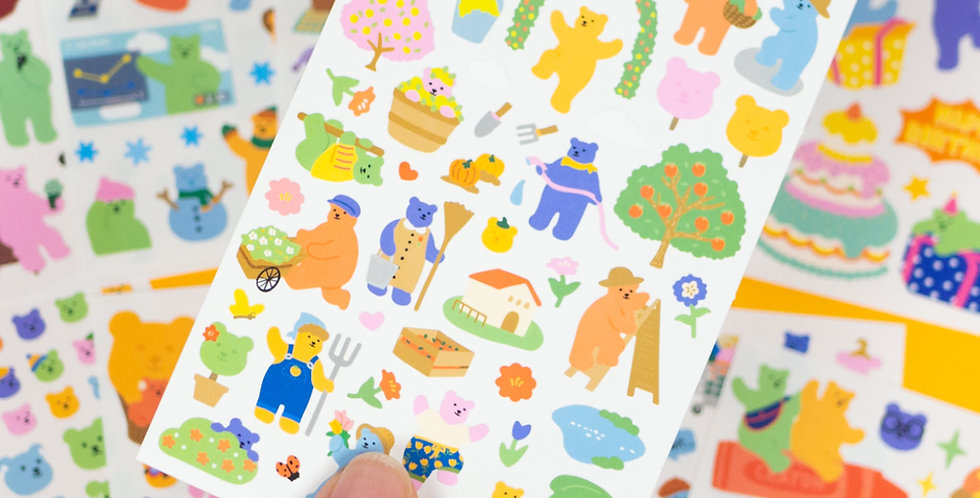 DAILYLIKE Jelly Bear Sticker - Individual