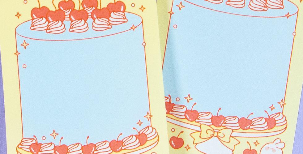 PUT SO NYEON Cherry Cake Memo