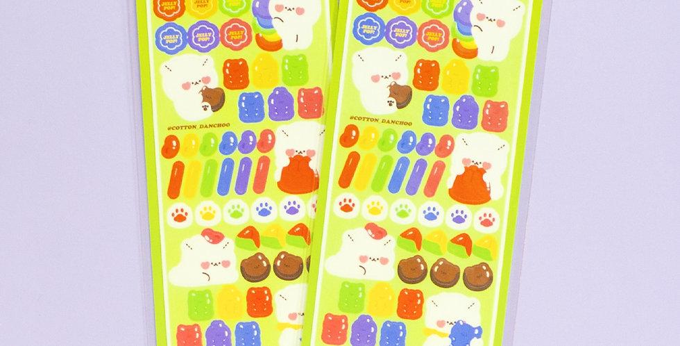 COTTON DANCHOO Jelly Sticker