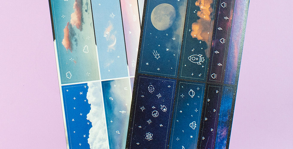 POLARIS SPACE Day & Night Deco Seal Sticker