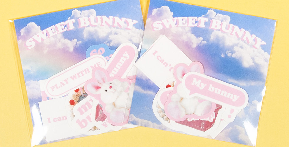 LOVE THINGS Sweet Bunny Sticker Pack
