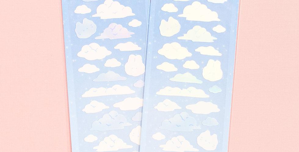 MANTA BOX Shiny Fluffy Cloud Sticker