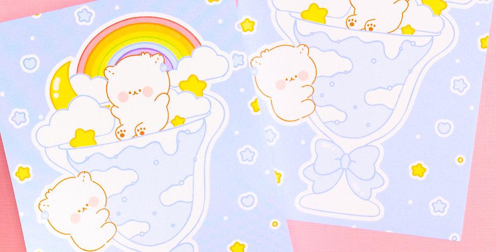 COTTON DANCHOO Rainbow Cloud Parfait Memo