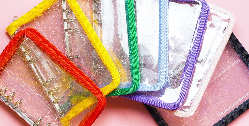 SECOND MANSION A6 Twinkle Zipper Binder