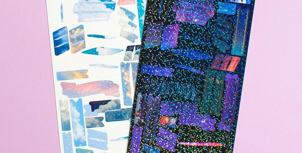 POLARIS SPACE Day & Night Ribbon Confetti Sticker