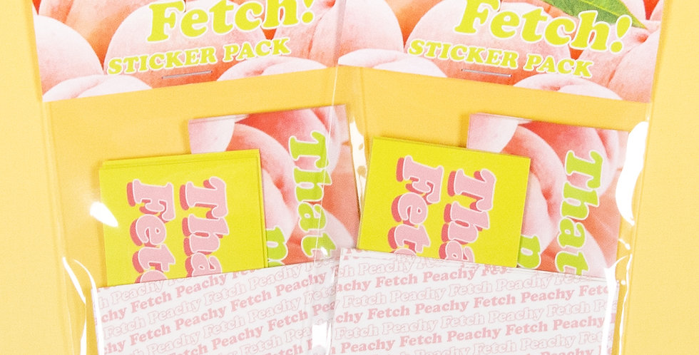 LOVE THINGS Peachy! Fetch! Sticker Pack