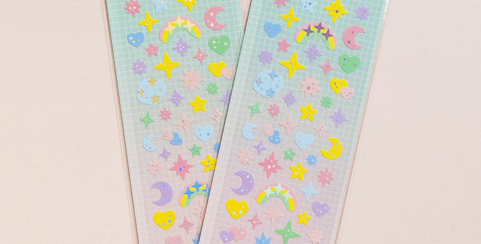 MANTA BOX Sparkling Deco-Twinkle Sticker
