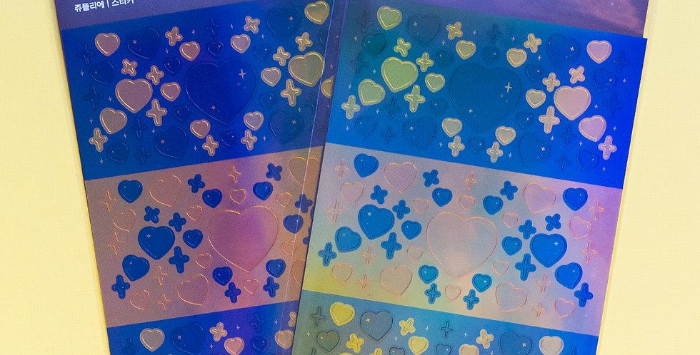 JOIE ATELIER Black & Gold Twinkle Heart Sticker