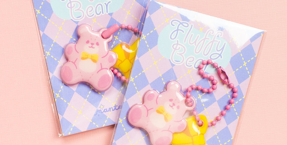 MANTA BOX Fluffy Bear Soft Key Ring