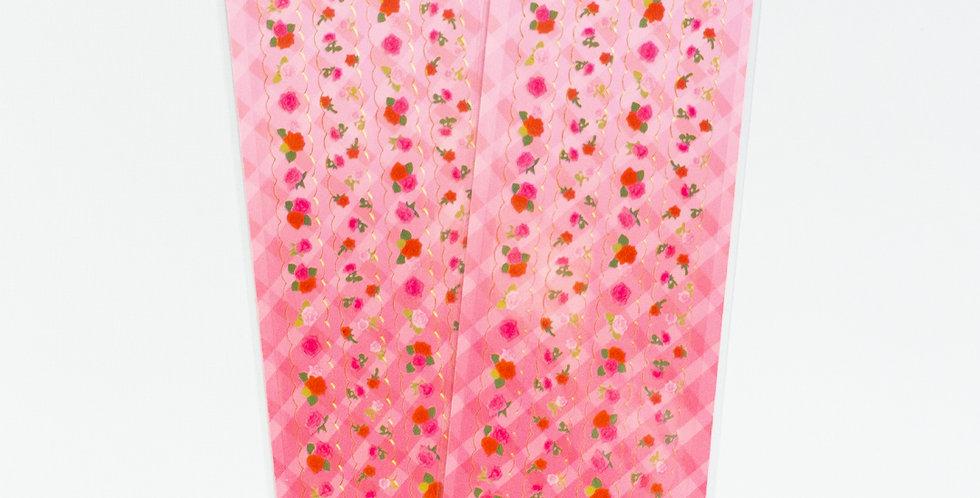 MANTA BOX Transparent Gilt Rose Line Sticker