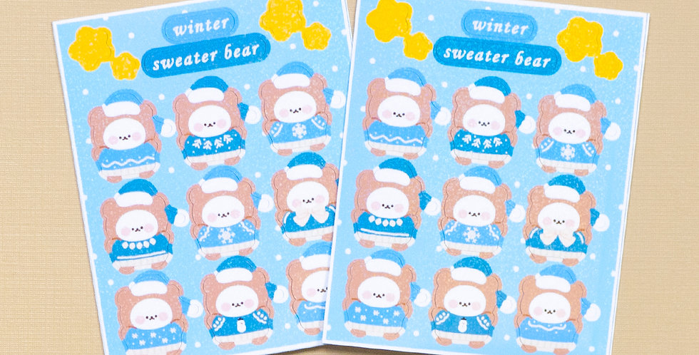 COTTON DANCHOO Snow Sweater Sticker