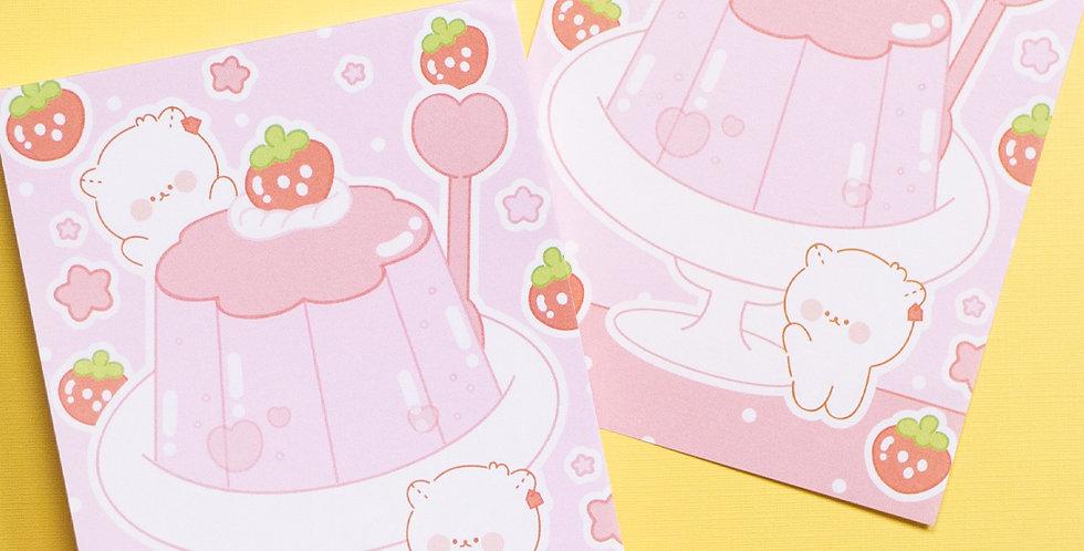 COTTON DANCHOO Strawberry Pudding Memo