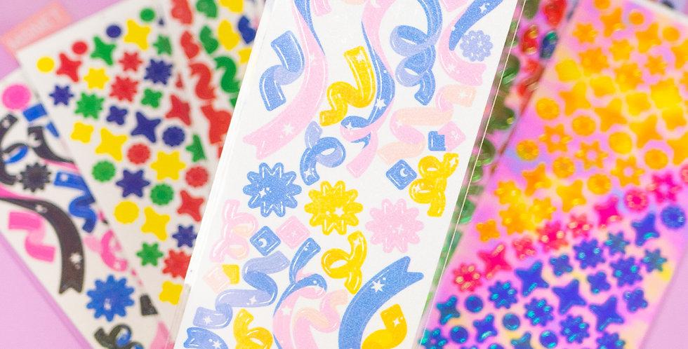 MANET Confetti Sticker - Individual