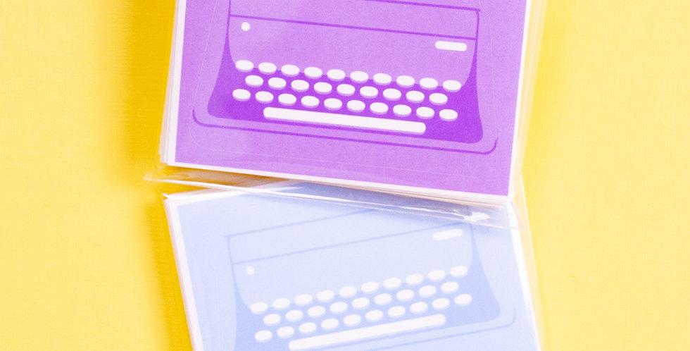 COTTON DANCHOO Pastel Typewriter Mix