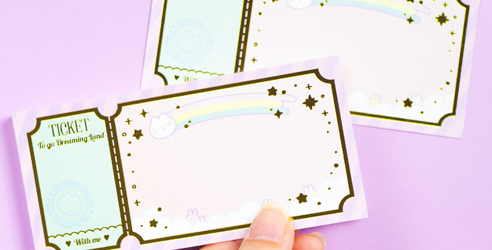 MANTA BOX Dreaming Ticket Memo