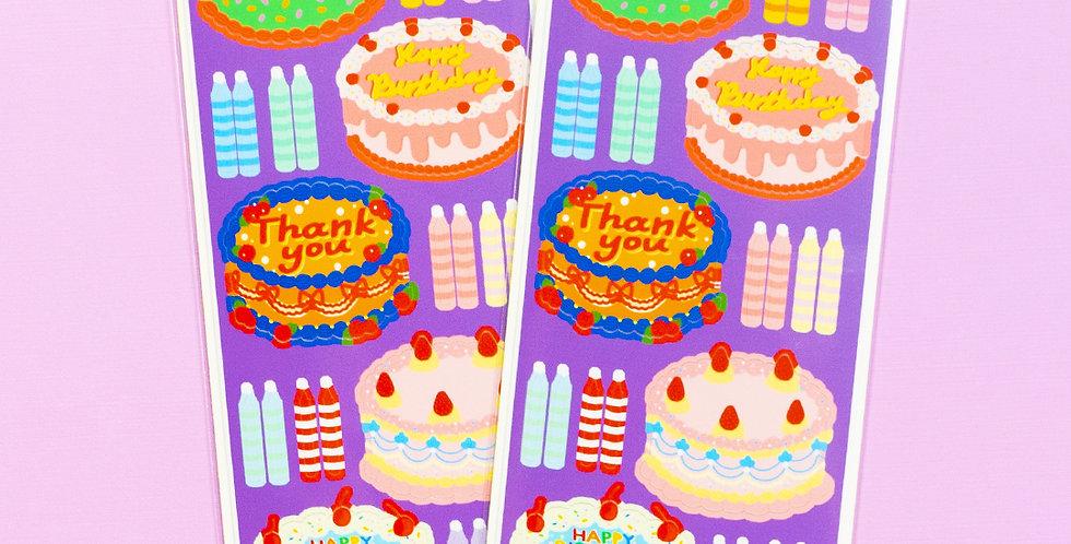 LEMON BERRY Round Party Cake Sticker