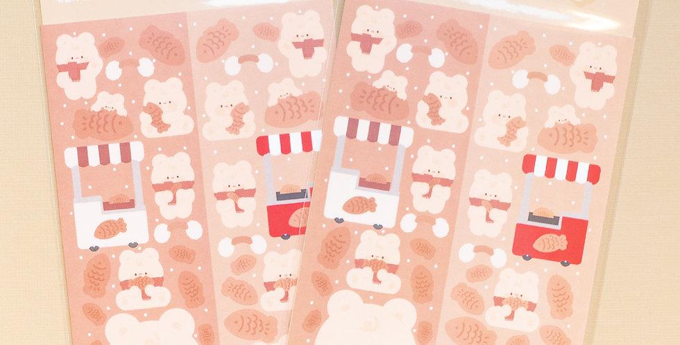 JOIE ATELIER Bungeo-Ppang Kobi Twin Sticker