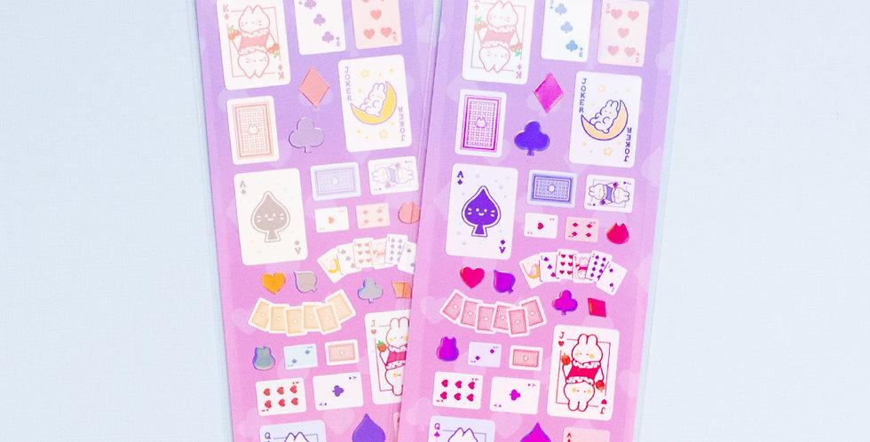 MANTA BOX Shiny Playing Card Sticker