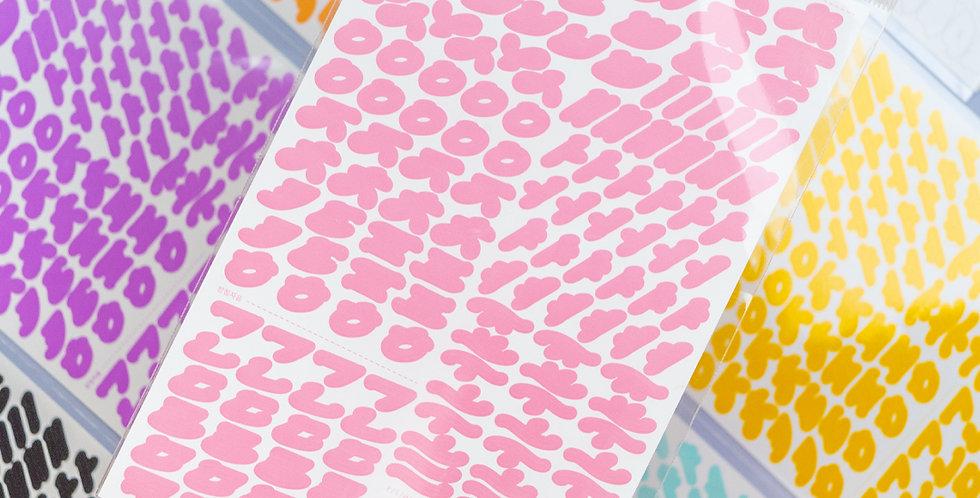 BE ON D Cinematic Hangul Sticker