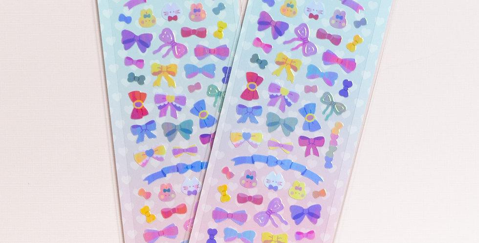 MANTA BOX Pearly Ribbon Ribbon Ribbon Sticker