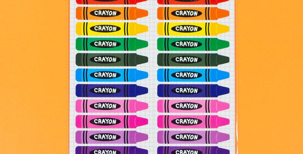 WANNATHIS Rainbow Crayon Sticker