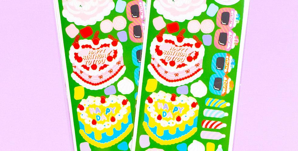 LEMON BERRY Heart Party Cake Sticker