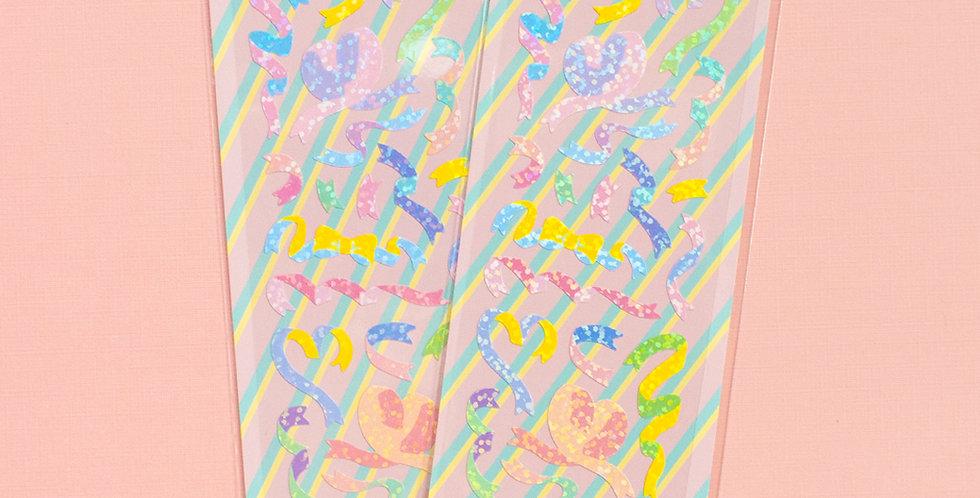 MANTA BOX Twinkle Ribbon Confetti Sticker