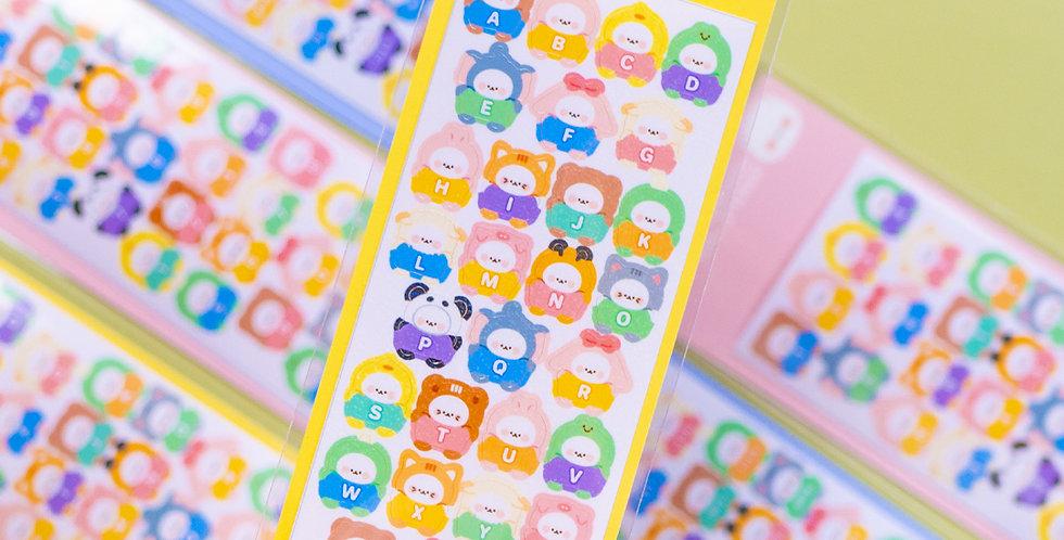 COTTON DANCHOO Animal Cloth Sticker