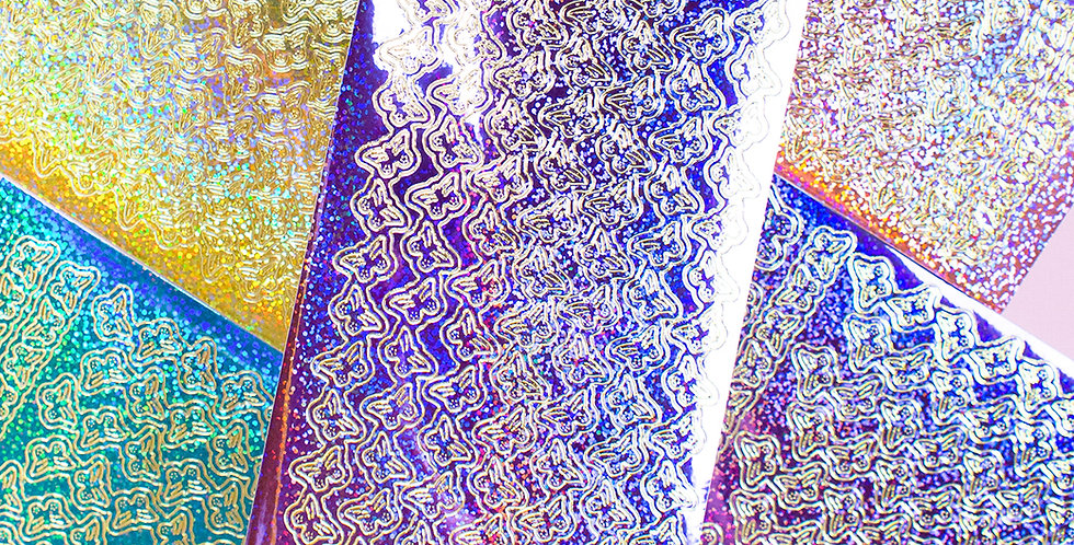 POLARIS SPACE Hologram Butterfly Sticker