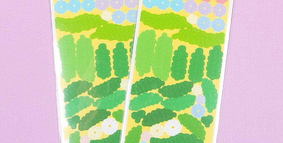 LEMON BERRY Daisy Greenery Sticker