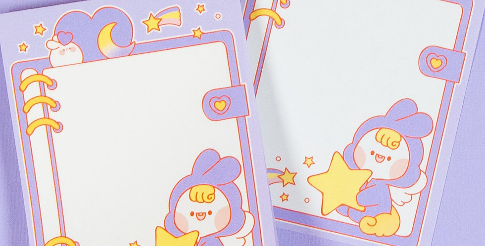 PUT SO NYEON Purple Unicorn Diary Memo