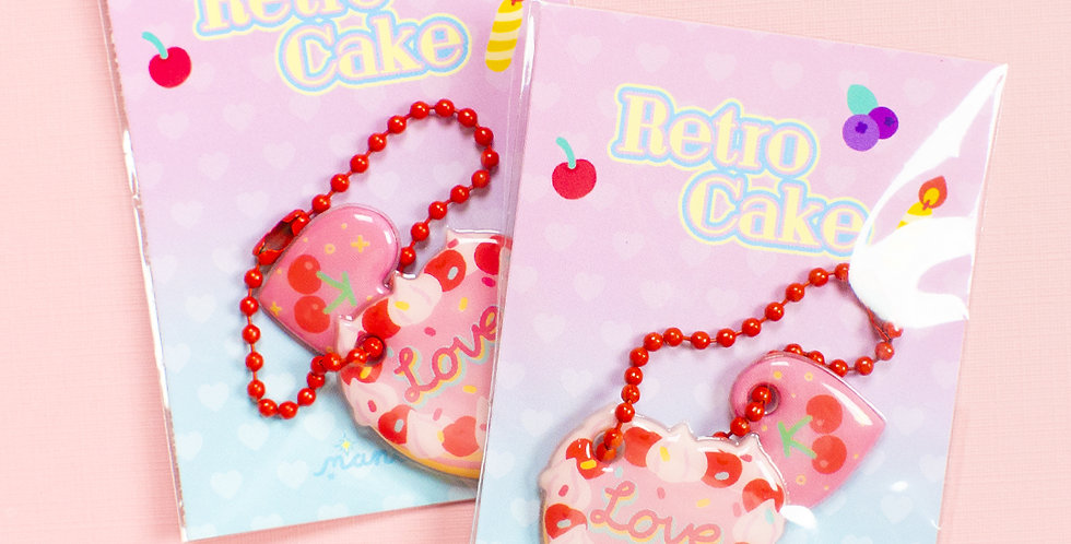 MANTA BOX Retro Cake Soft Key Ring