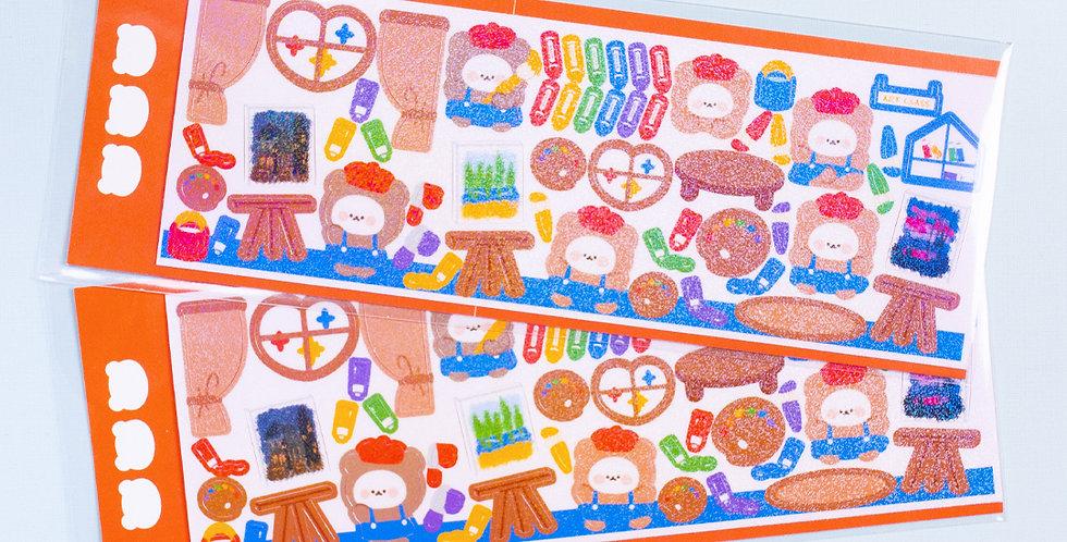 COTTON DANCHOO Art Class Sticker