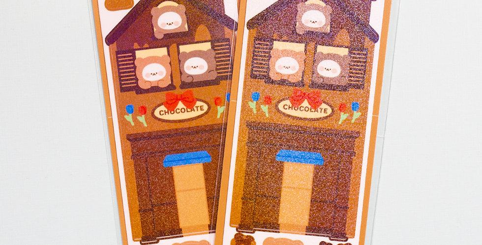 COTTON DANCHOO Chocolate Store Sticker