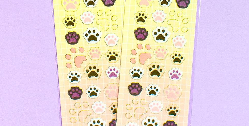 MANTA BOX Transparent Gilt Koaengi Invisible Paw Sticker