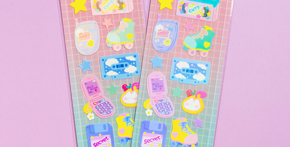 MANTA BOX Shiny Retro Things Sticker