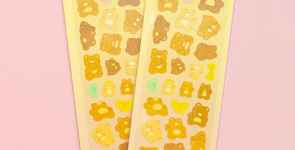 MANTA BOX Twinkle Rising Bread Bear Sticker