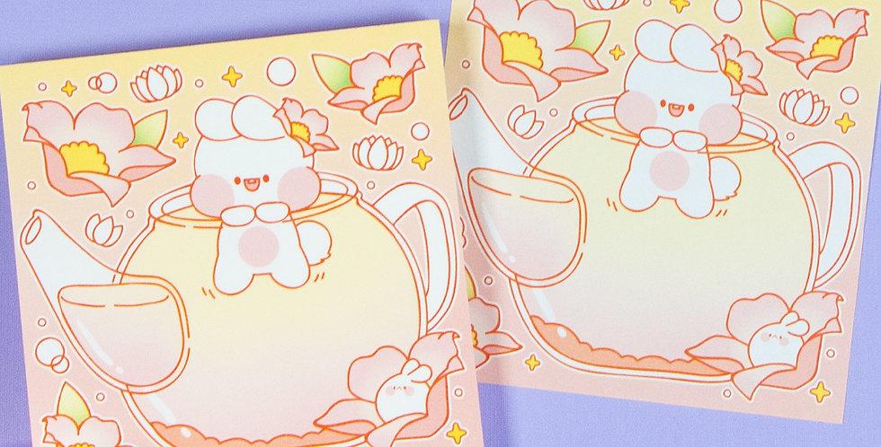 PUT SO NYEON Pink Teapot Fairy Memo