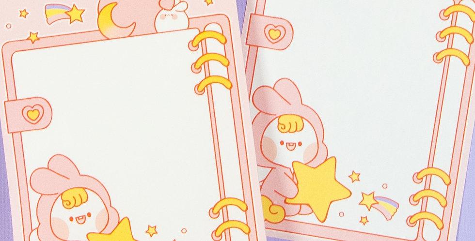 PUT SO NYEON Pink Unicorn Diary Memo