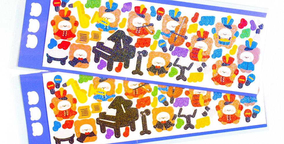 COTTON DANCHOO Music Class Sticker