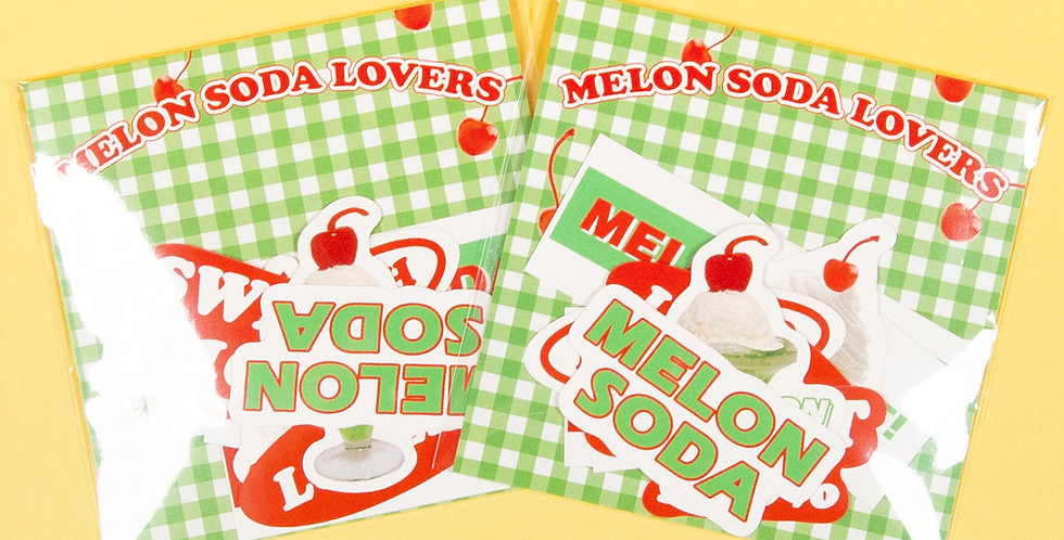 LOVE THINGS Melon Soda Lovers Sticker Pack