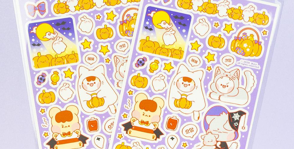 PUT SO NYEON Halloween Character Sticker