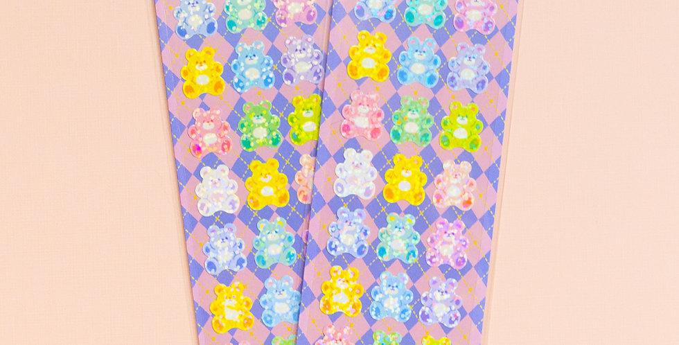 MANTA BOX Twinkle Fluffy Bear Sticker