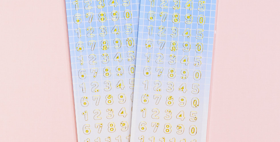 MANTA BOX Transparent Gilt 100% Number Sticker