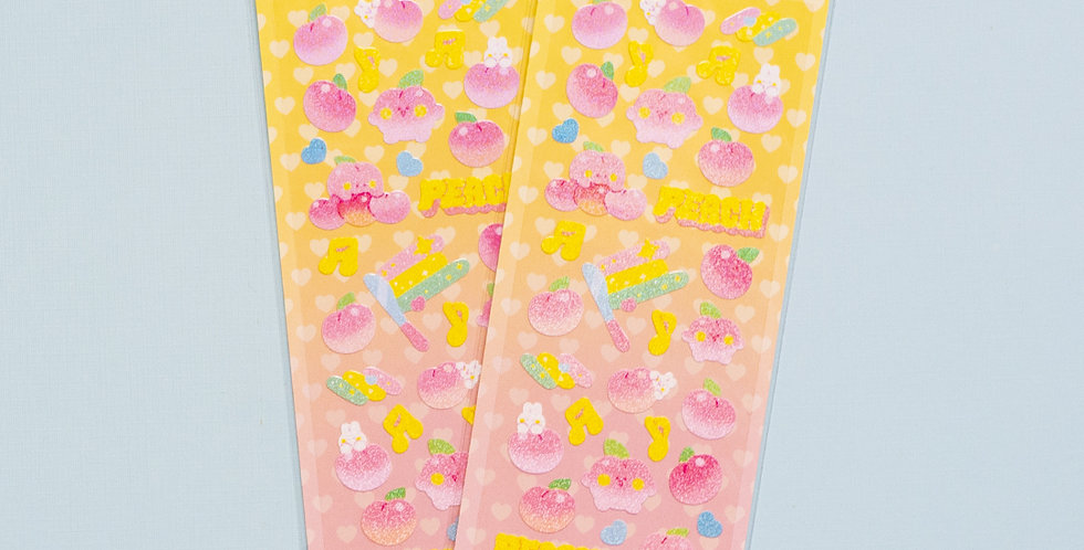 MANTA BOX Twinkle Wonder Peach Sticker
