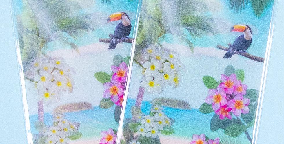 APPREE Tropical Day Nature Scene Sticker