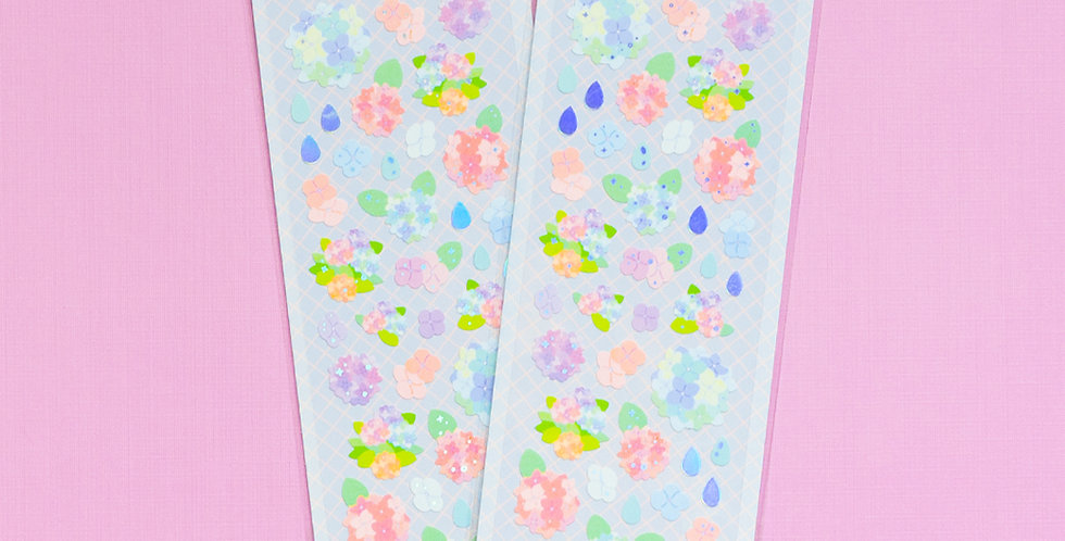MANTA BOX Sparkling Hydrangea Sticker